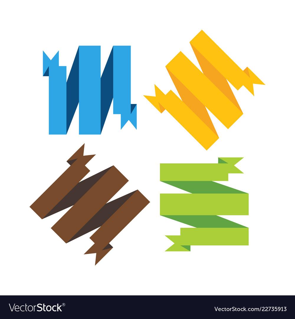Ribbon banner graphic design template