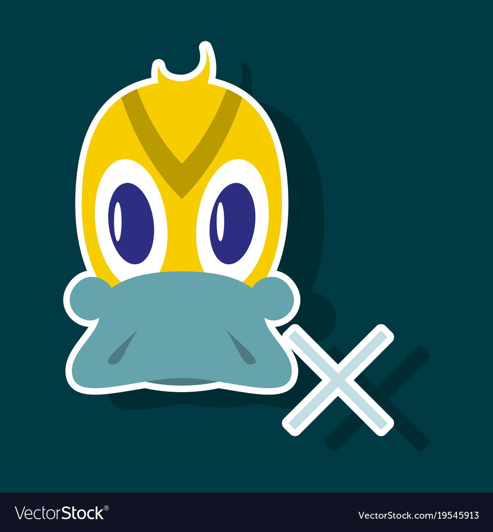 Sticker icon in flat style duck vector image