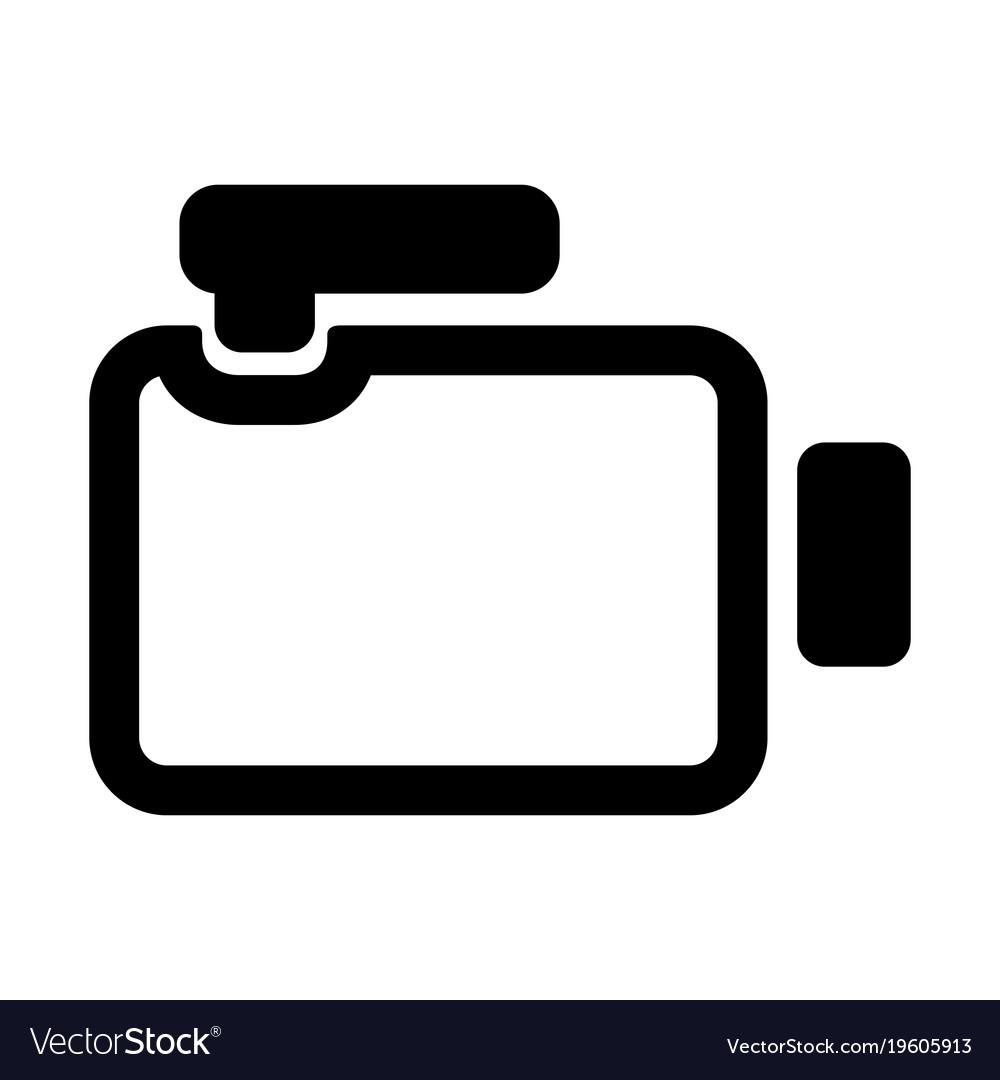 video camera icon royalty free vector image vectorstock rh vectorstock com camera icon vector png camera icon vector graphic