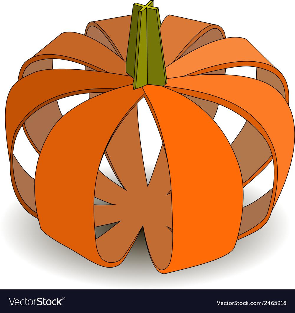 Abstract applique pumpkin on halloween