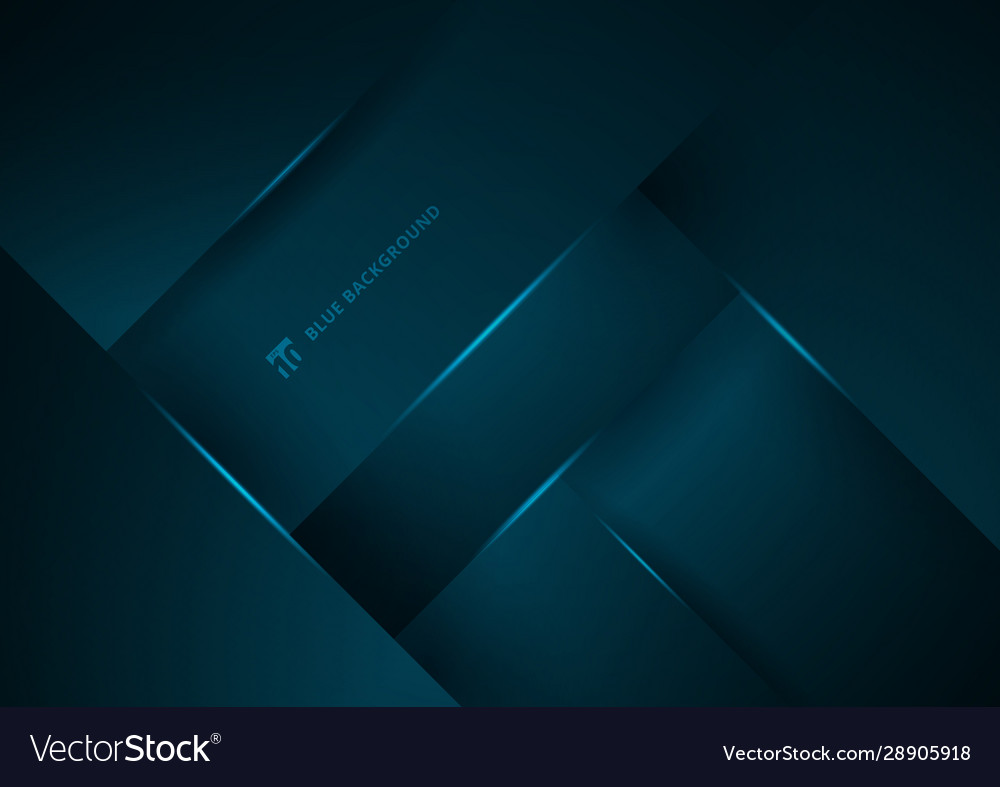 Abstract blue geometric overlap layer background
