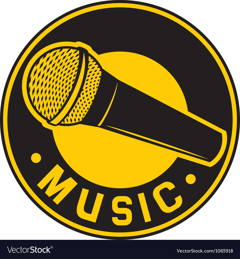 Classic Microphone symbol vector image
