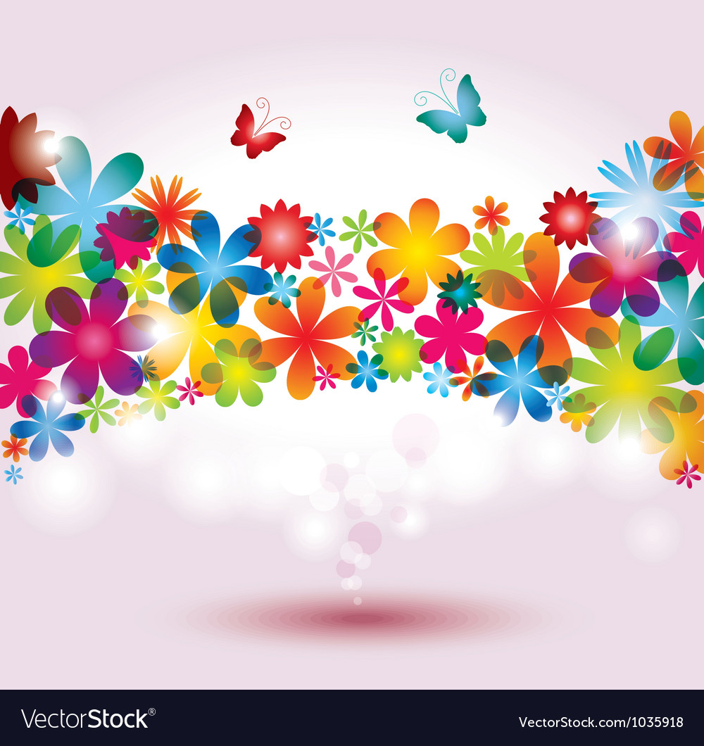 colorful flower background royalty free vector image