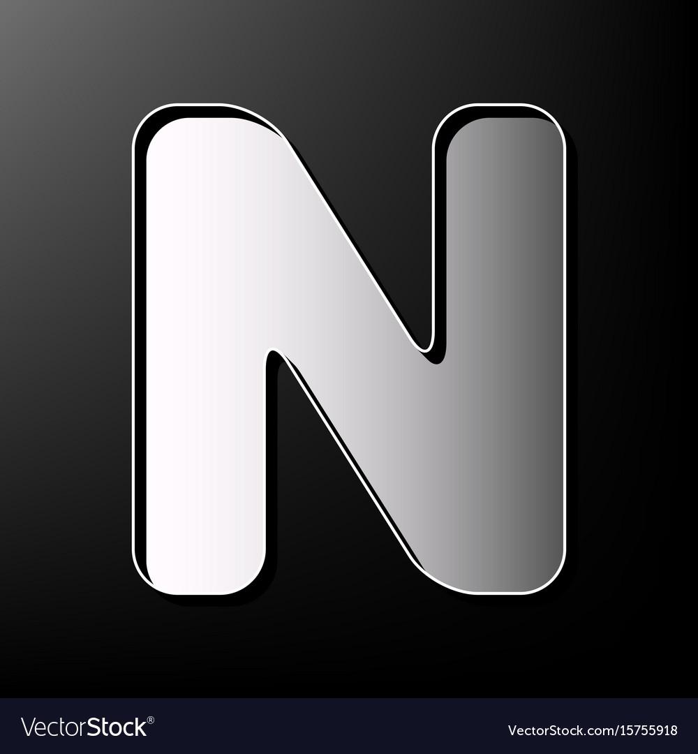 Letter n sign design template element