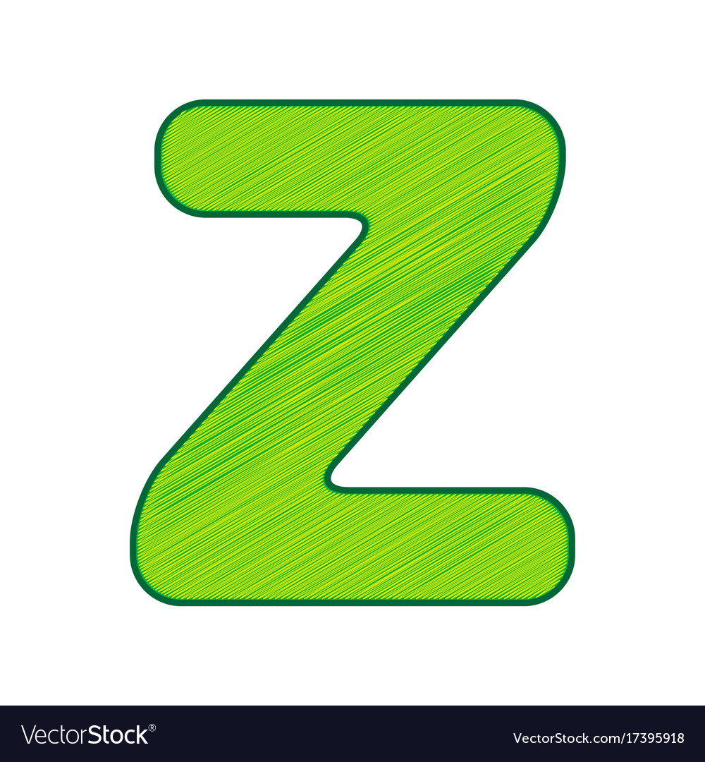 Letter Z Sign Design Template Element Vector Image