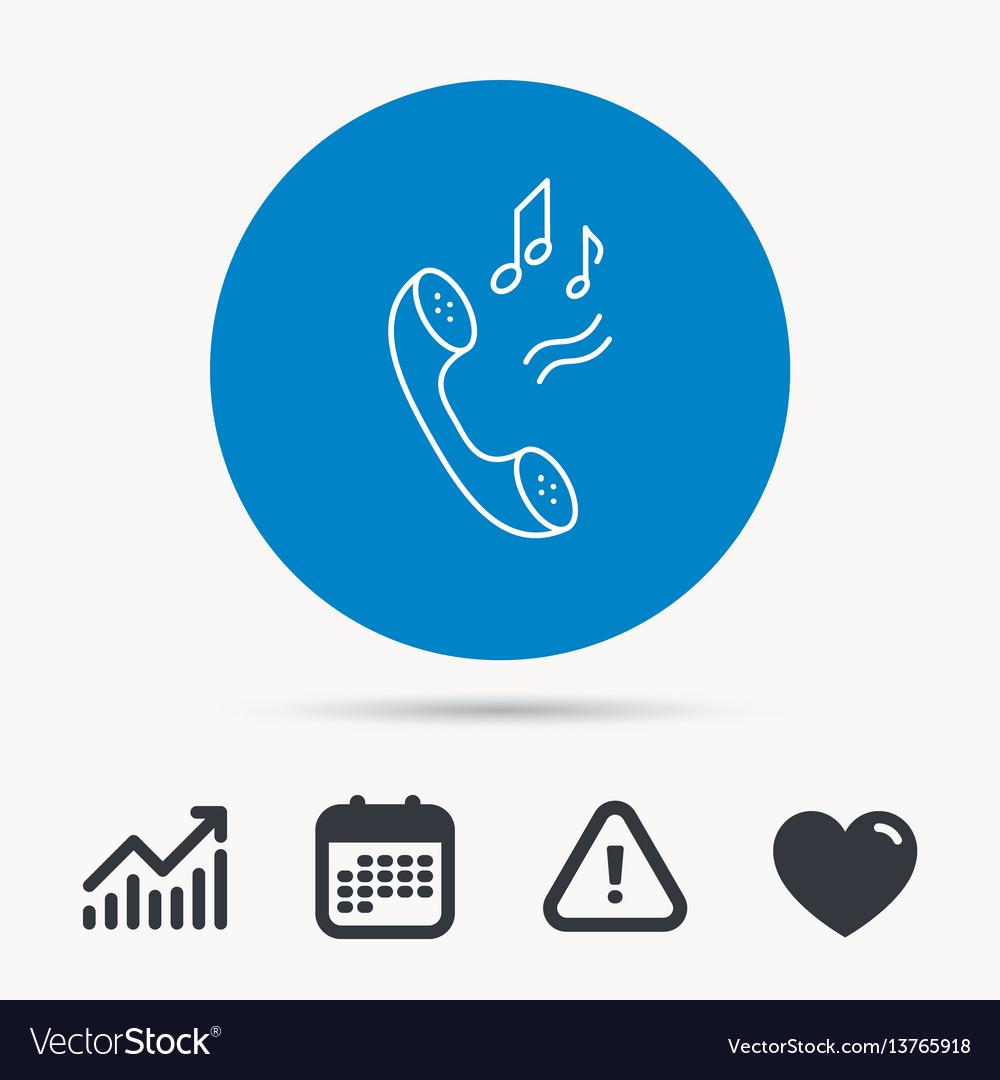 Phone icon call ringtone sign