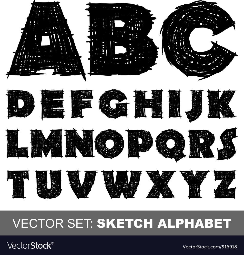 Sketch alfabet