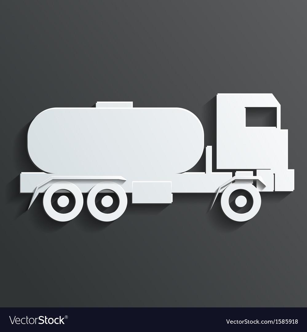 Tanker trucks vector image