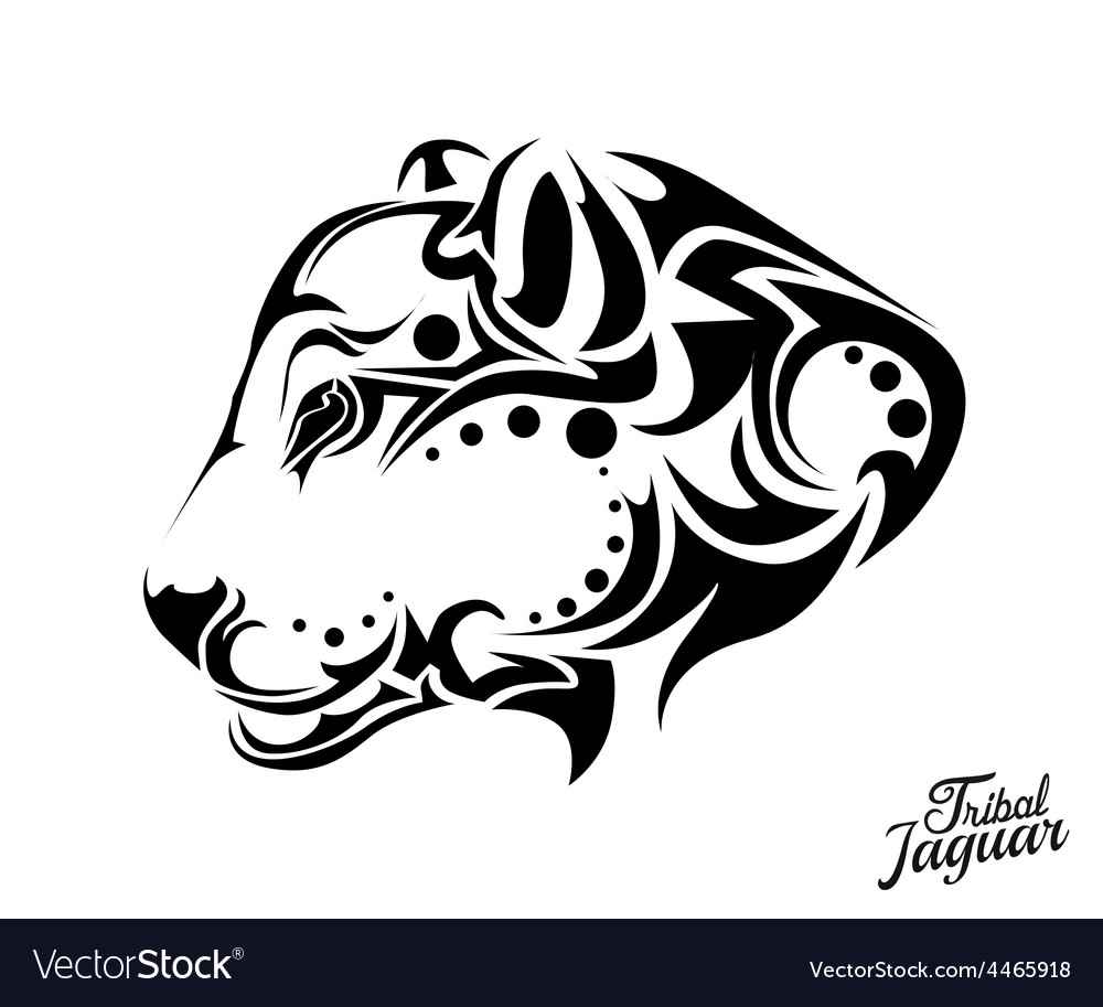 8ceb7c4aa Tribal Jaguar tattoo Royalty Free Vector Image