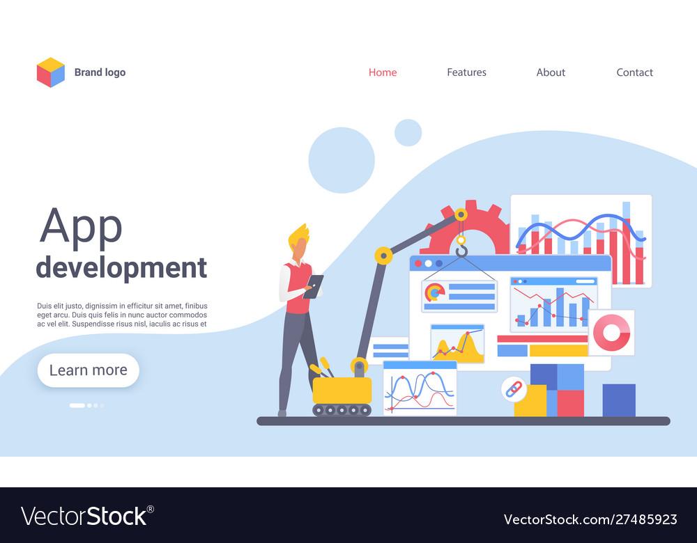 App development landing page template