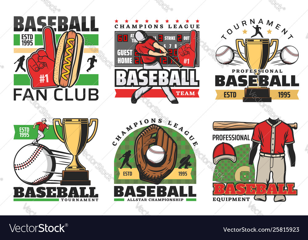 Baseball sport club tournament golden cup game