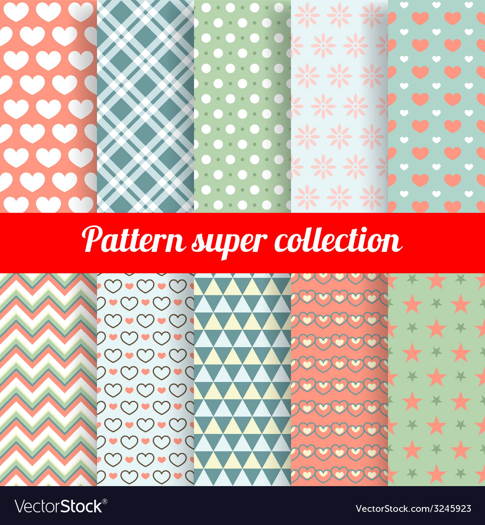 Collection of Chic Seamless patterns