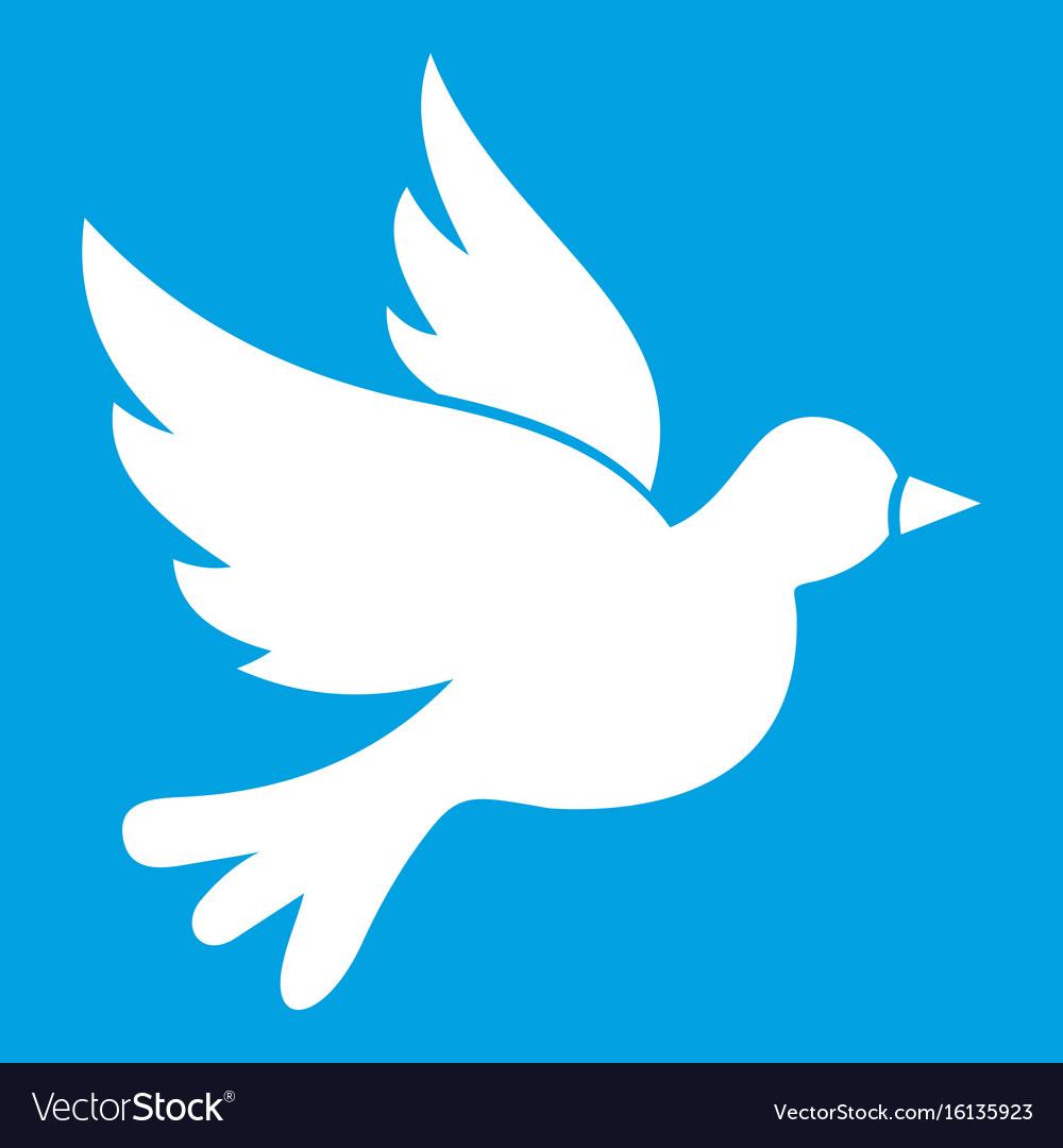 Dove icon white vector image