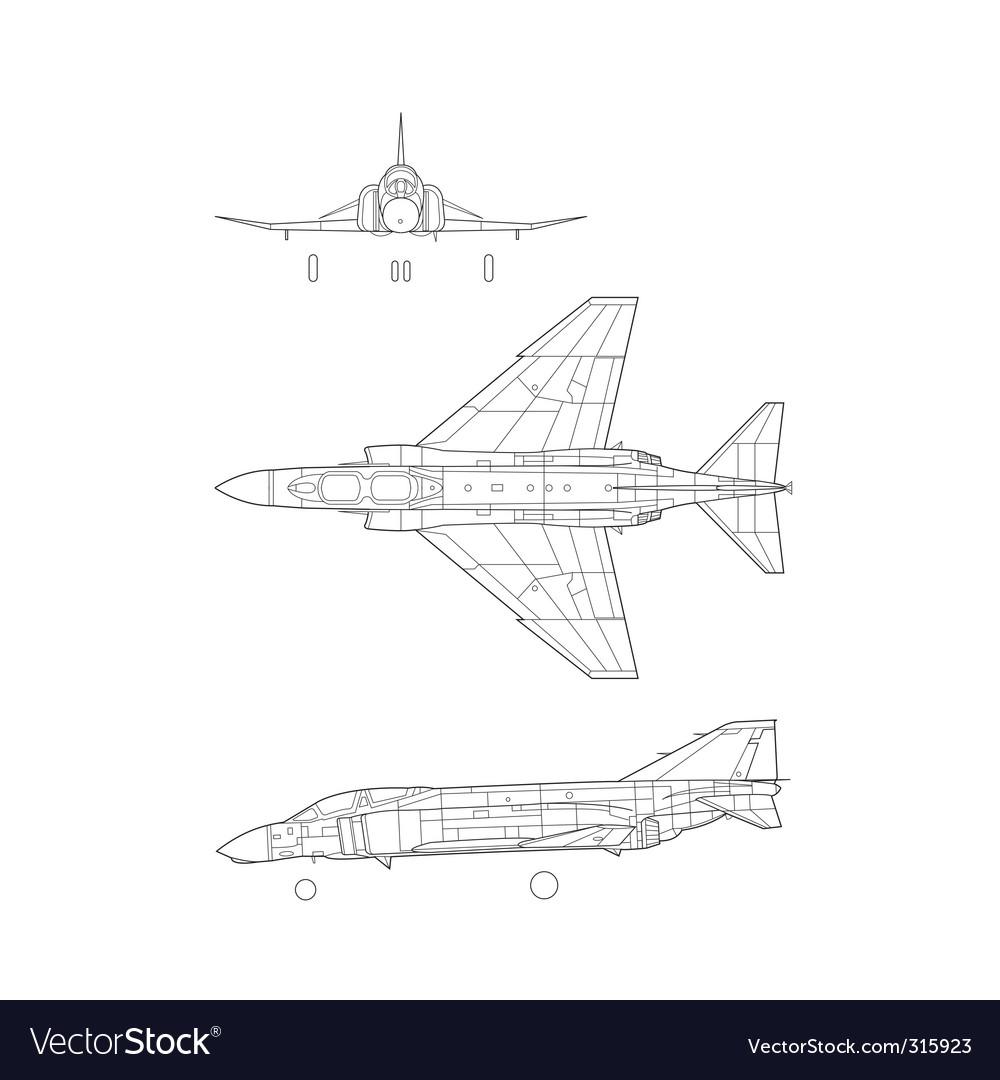 F4 phantom vector image