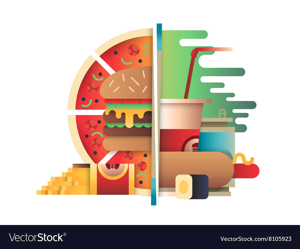Fast food design flat