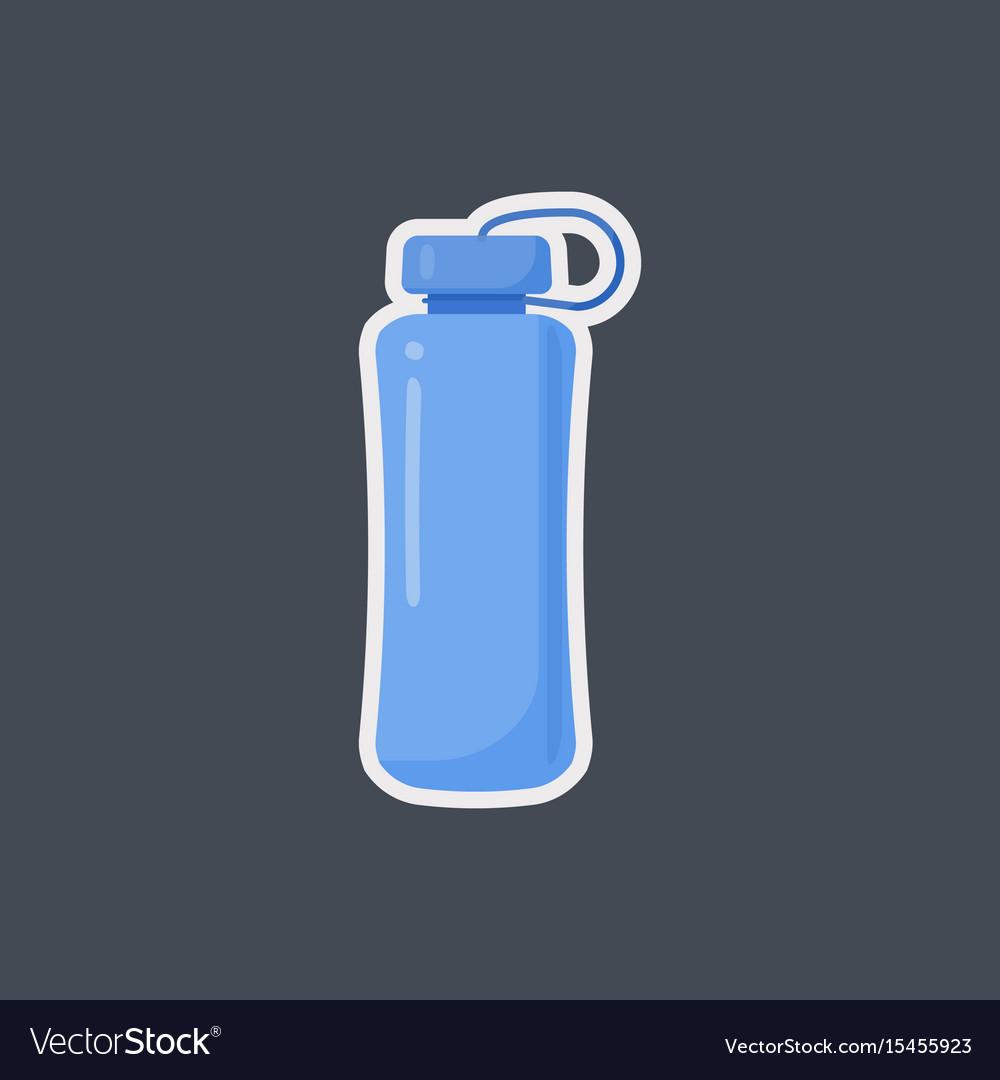 Fitness water bottle flat icon