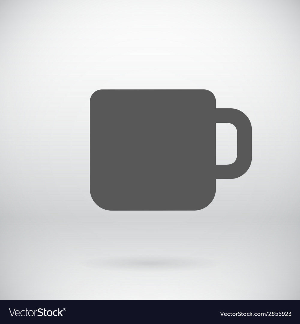 Flat Coffee Mug Tea Cup Icon Symbol Background