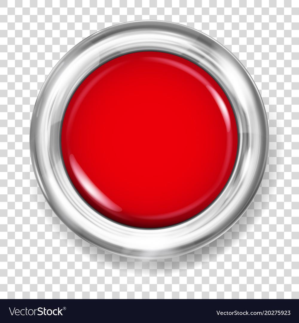 Red plastic button