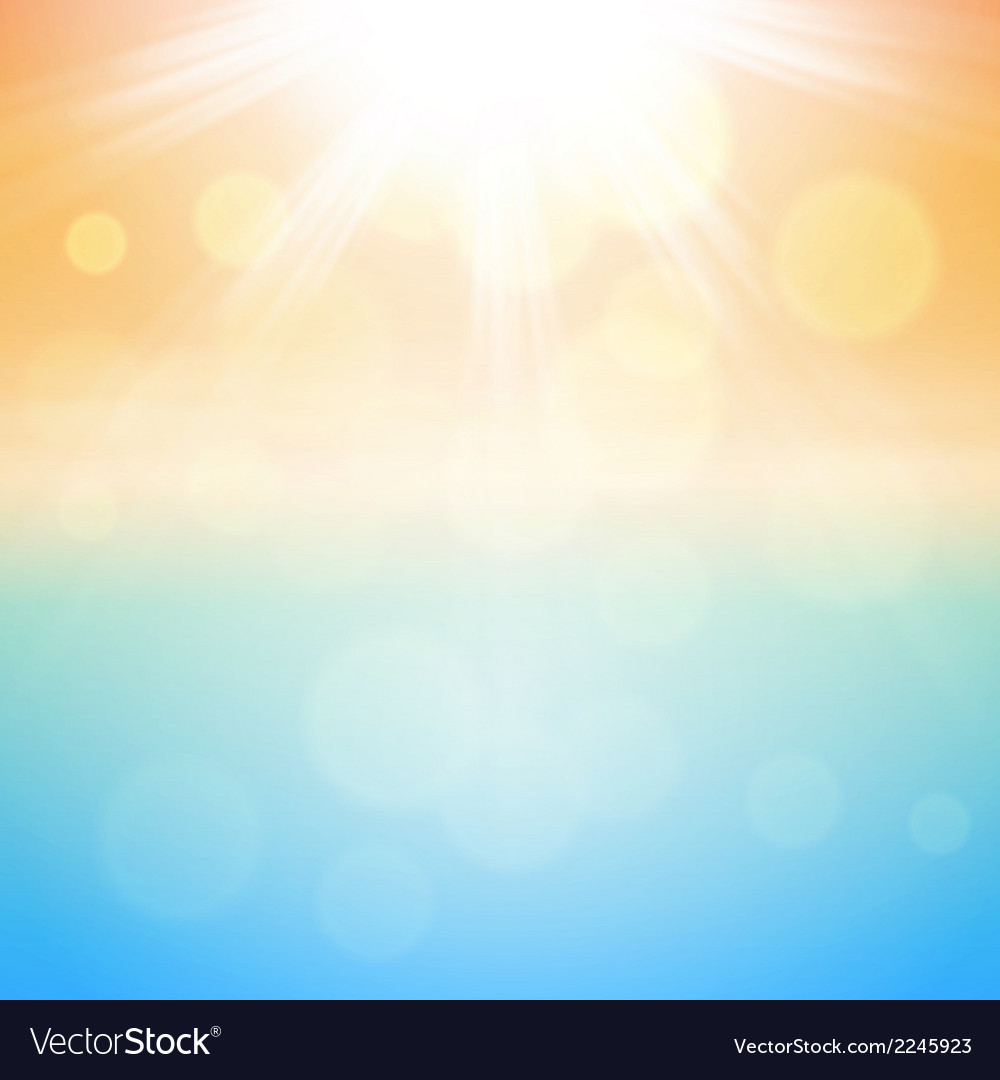 Sunny Summer Background Royalty Free Vector Image