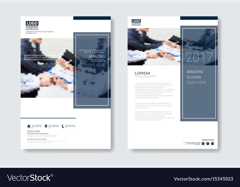 Template design brochure set annual report
