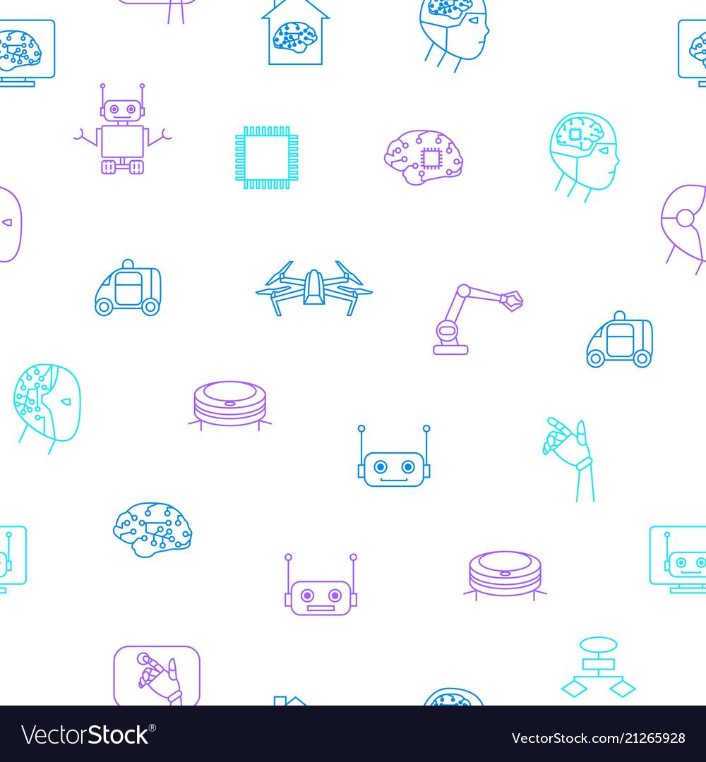 Artificial intelligence seamless pattern