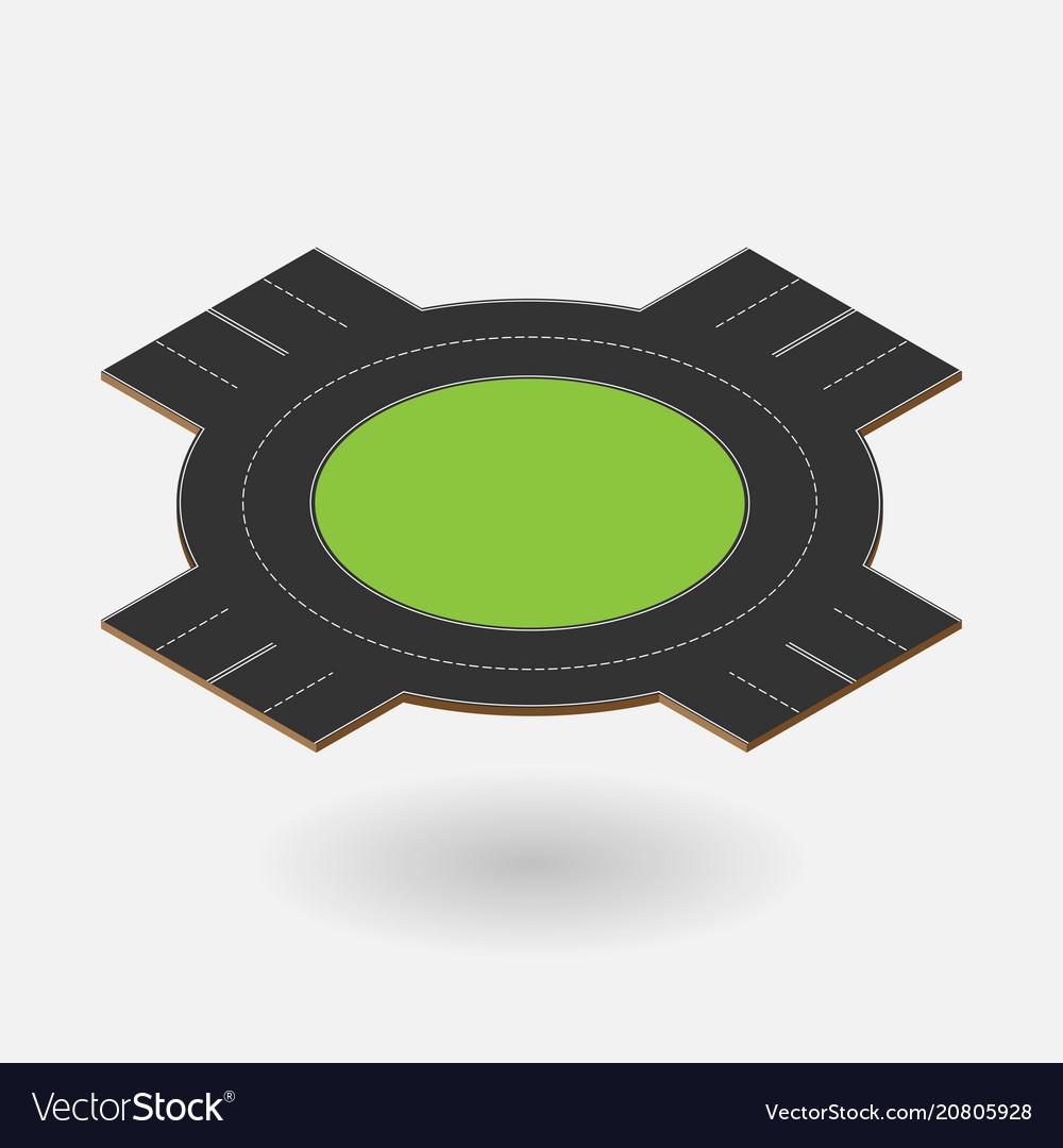 Circle crossroad isometric element