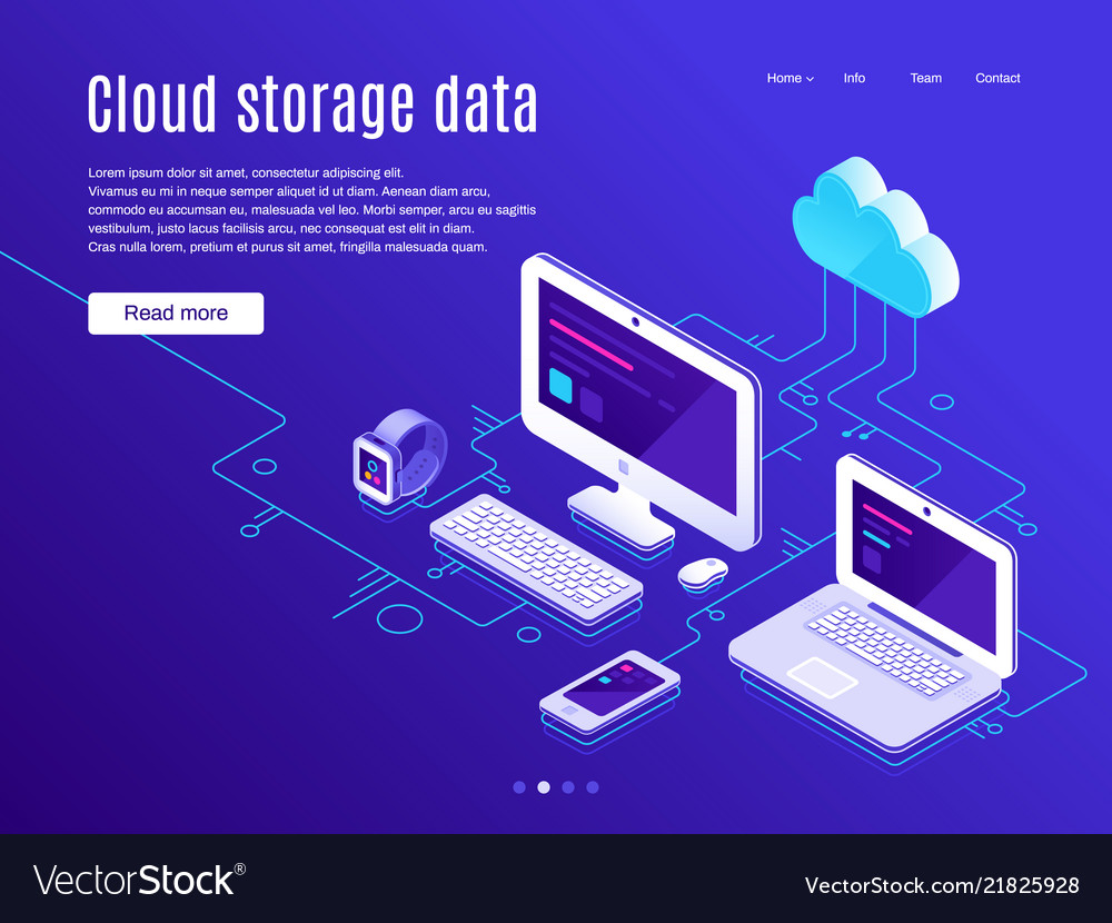 Cloud storage landing page synchronization clouds