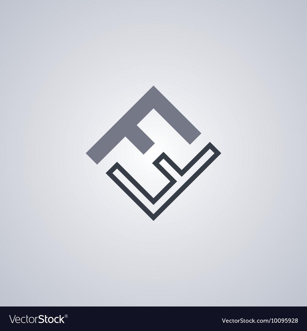 Ff initial letter logotype company logo theme