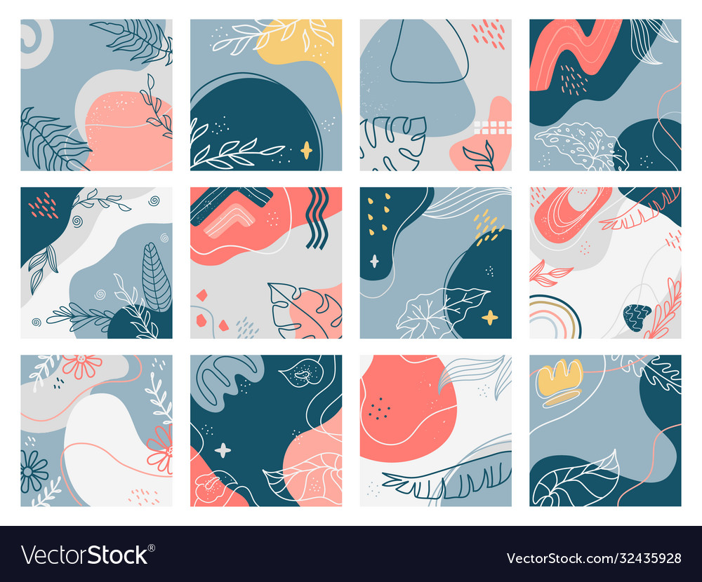Hand drawn backgrounds doodle trendy abstract