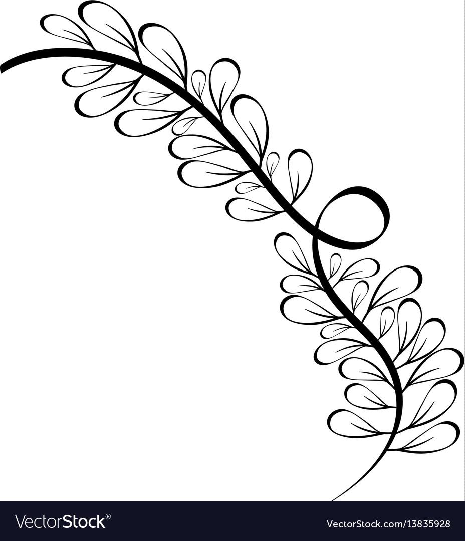 Hearts decoration design border vector image