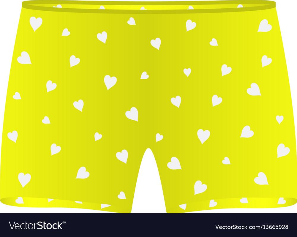 Men underwear with white hearts vector image