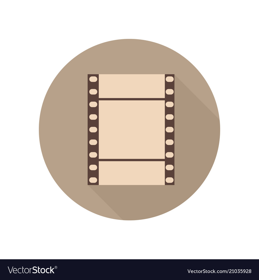 Vintage retro filmstrip icon film movie photo