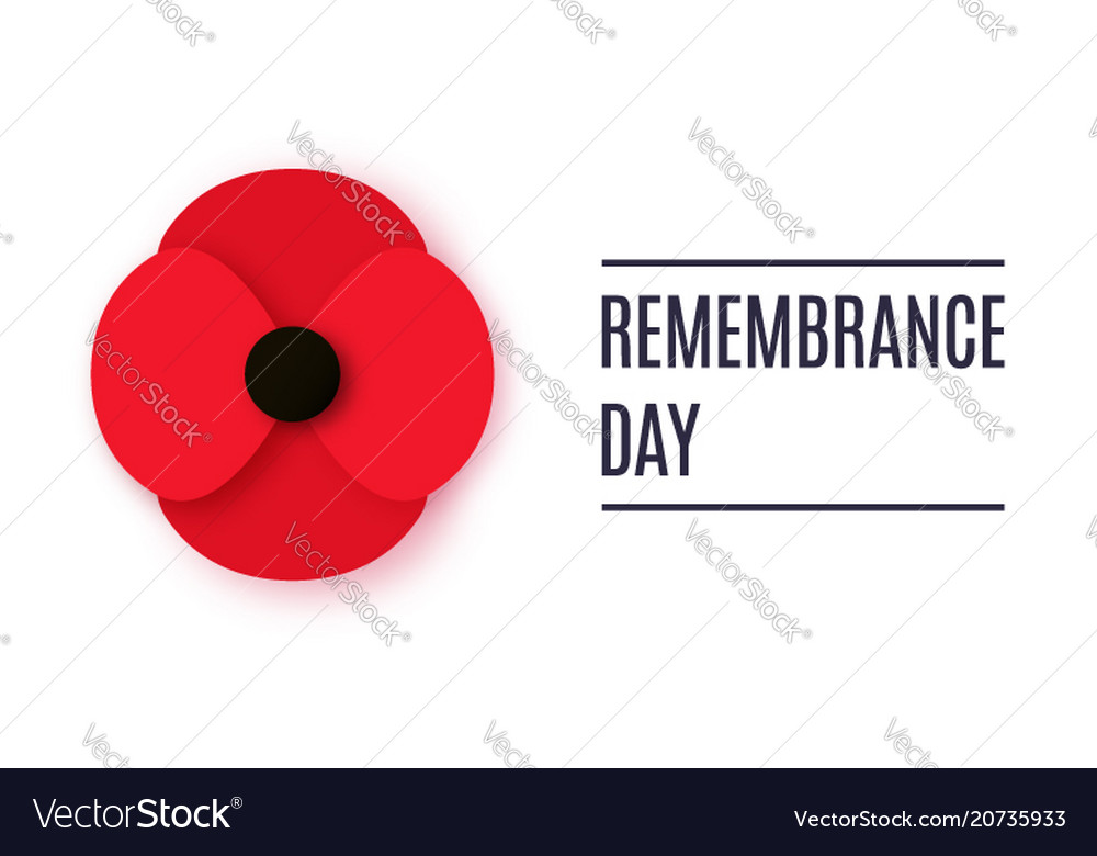 Anzac day banner paper cut red poppy flower vector image mightylinksfo