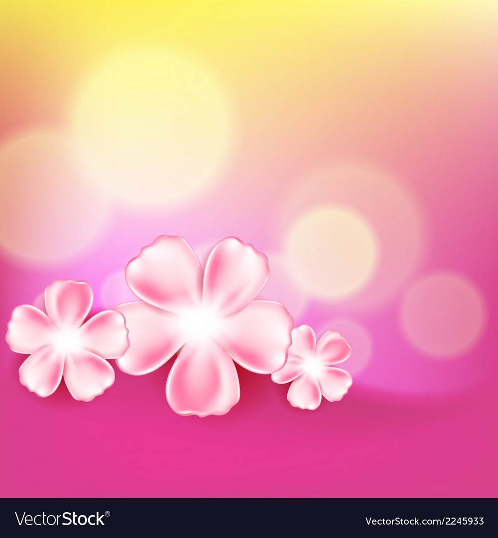 Beautiful Pink Flower Background Royalty Free Vector Image