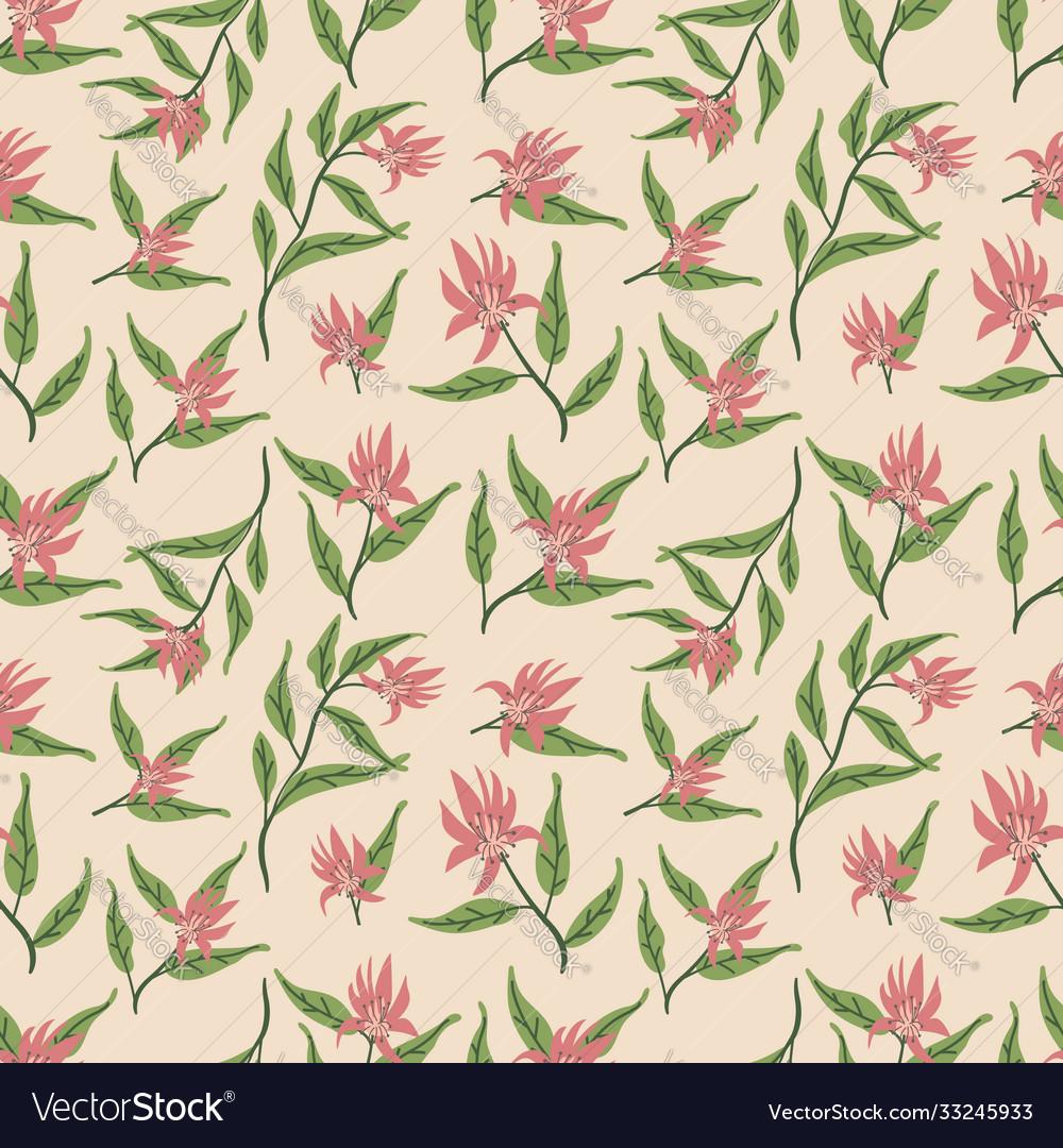 Beautiful wild flowers textile pattern design