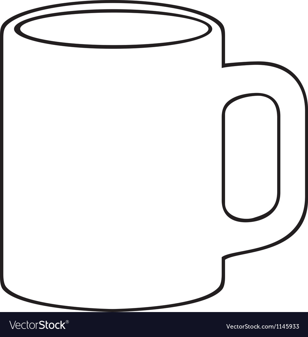 coffee mug white cup royalty free vector image rh vectorstock com cup vector template cup vector template