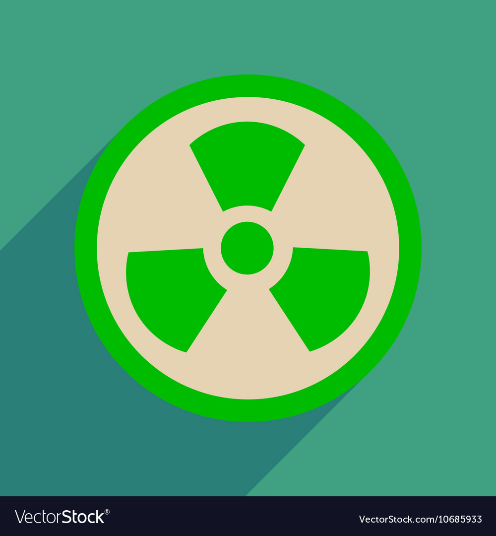Flat web icon with long shadow toxic symbol vector image altavistaventures Images