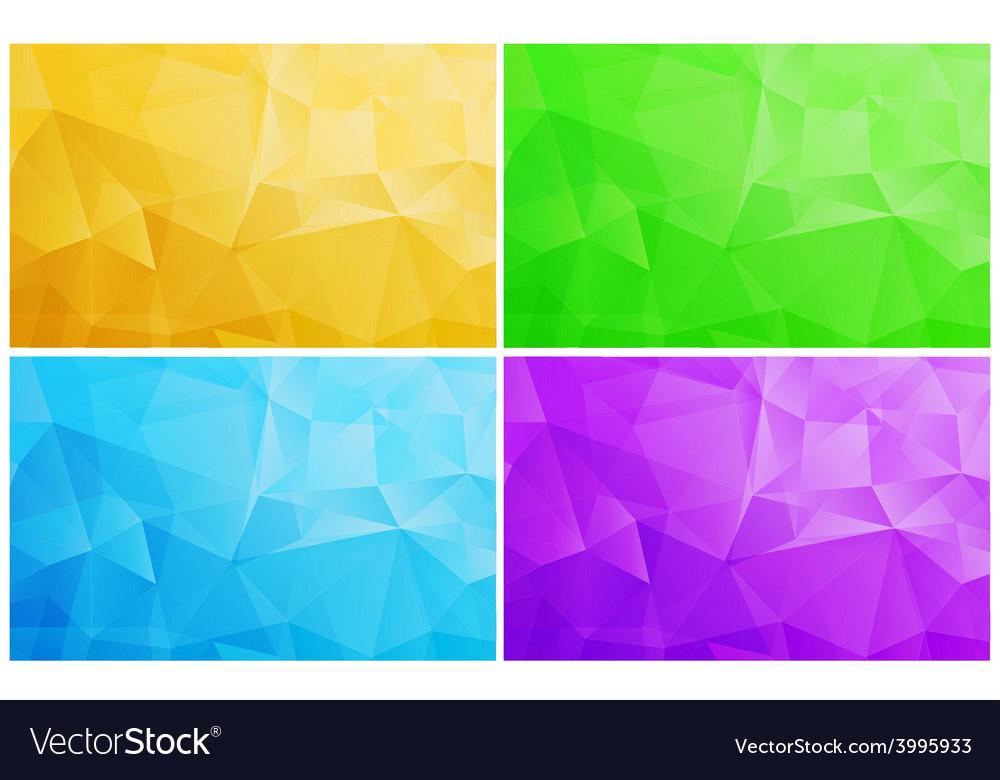 Geometric Patterns Set Colorful Abstract Mosaic