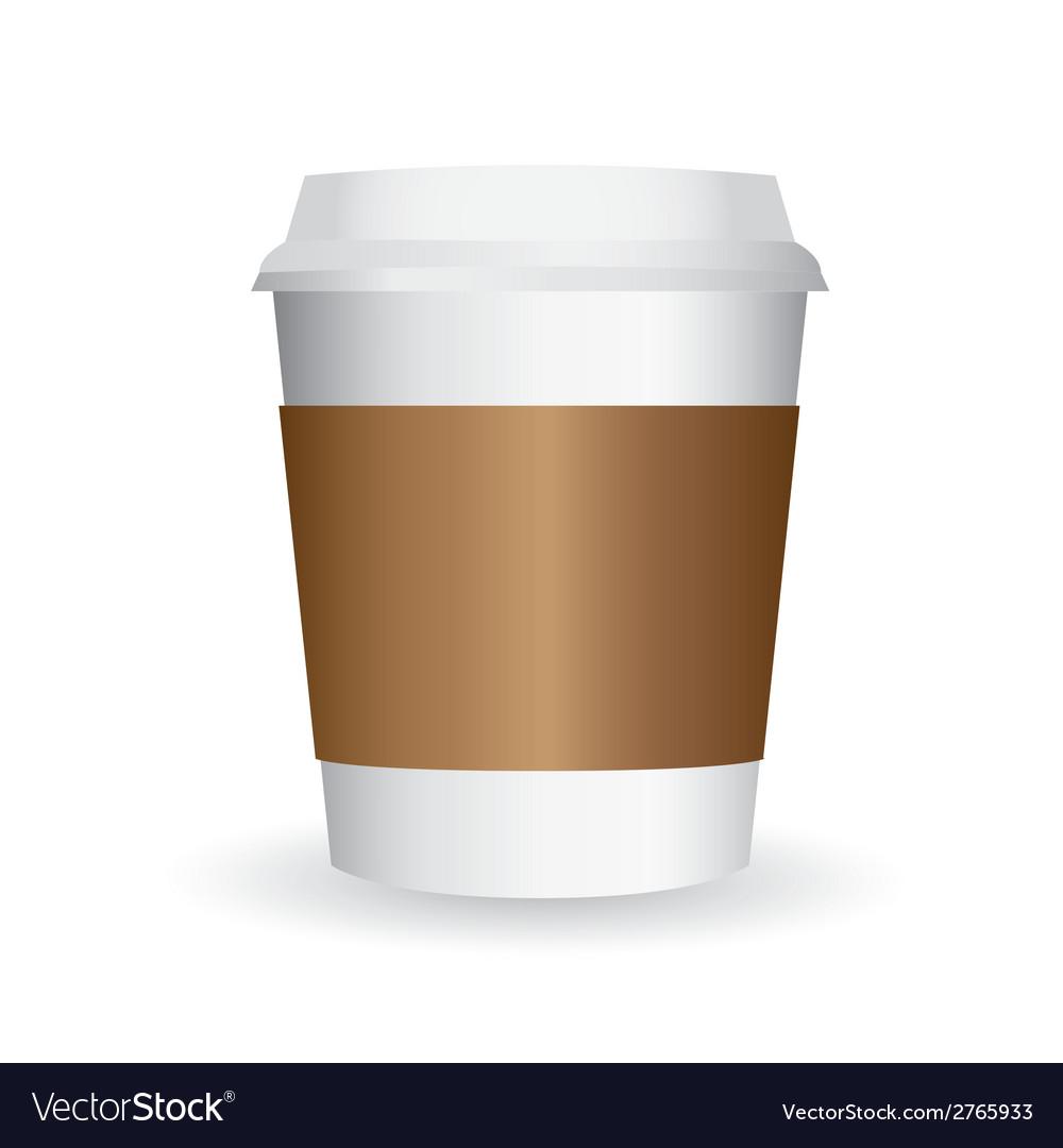 paper coffee cup royalty free vector image - vectorstock