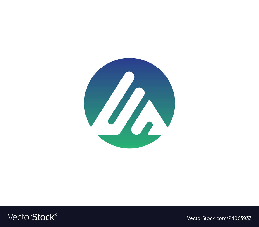 Pyramid logo and symbol business abstract design