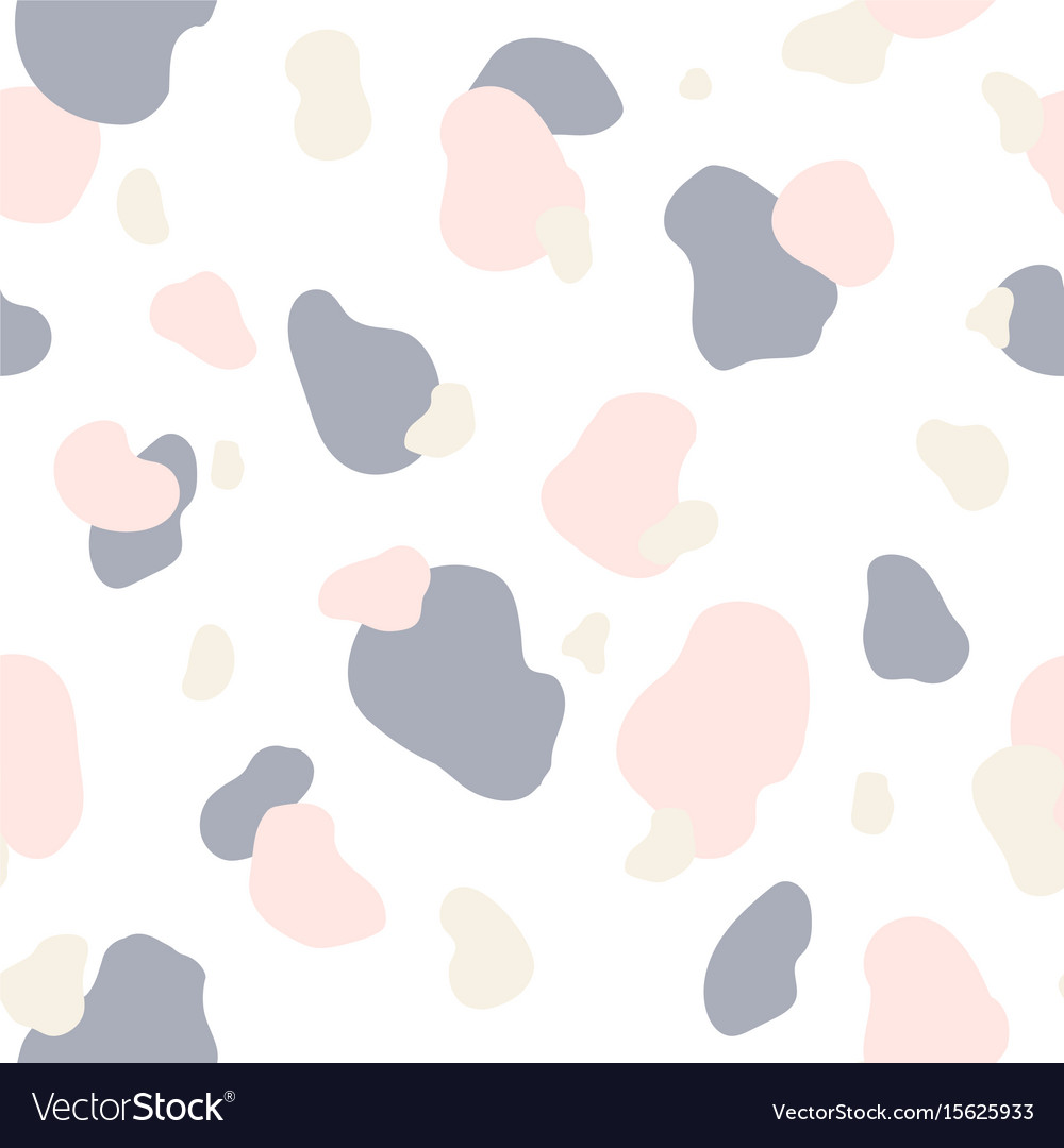 Seamless pattern of pink gray and white spots