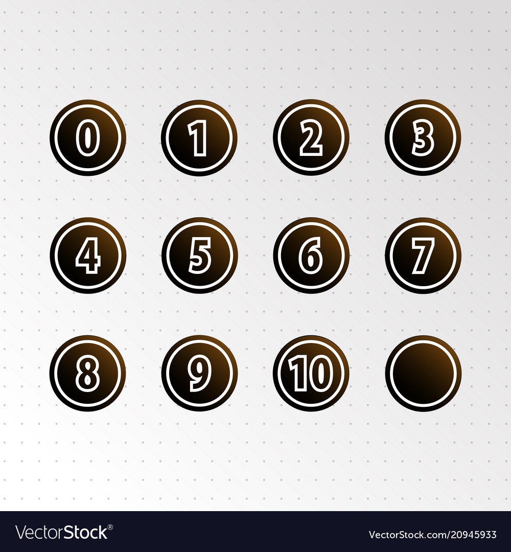 Set of circle numbers icon
