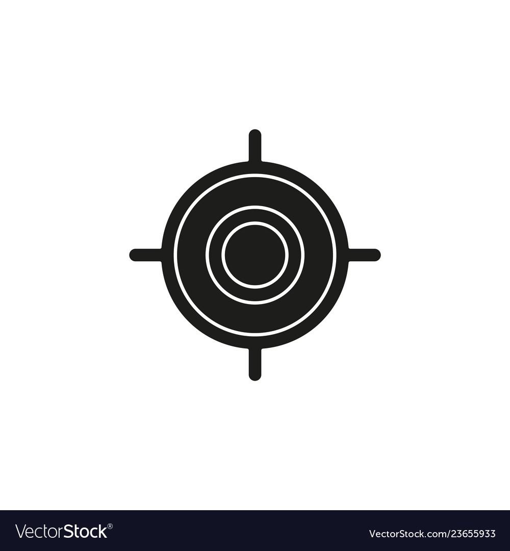 Target goal icon target focus arrow marketing aim