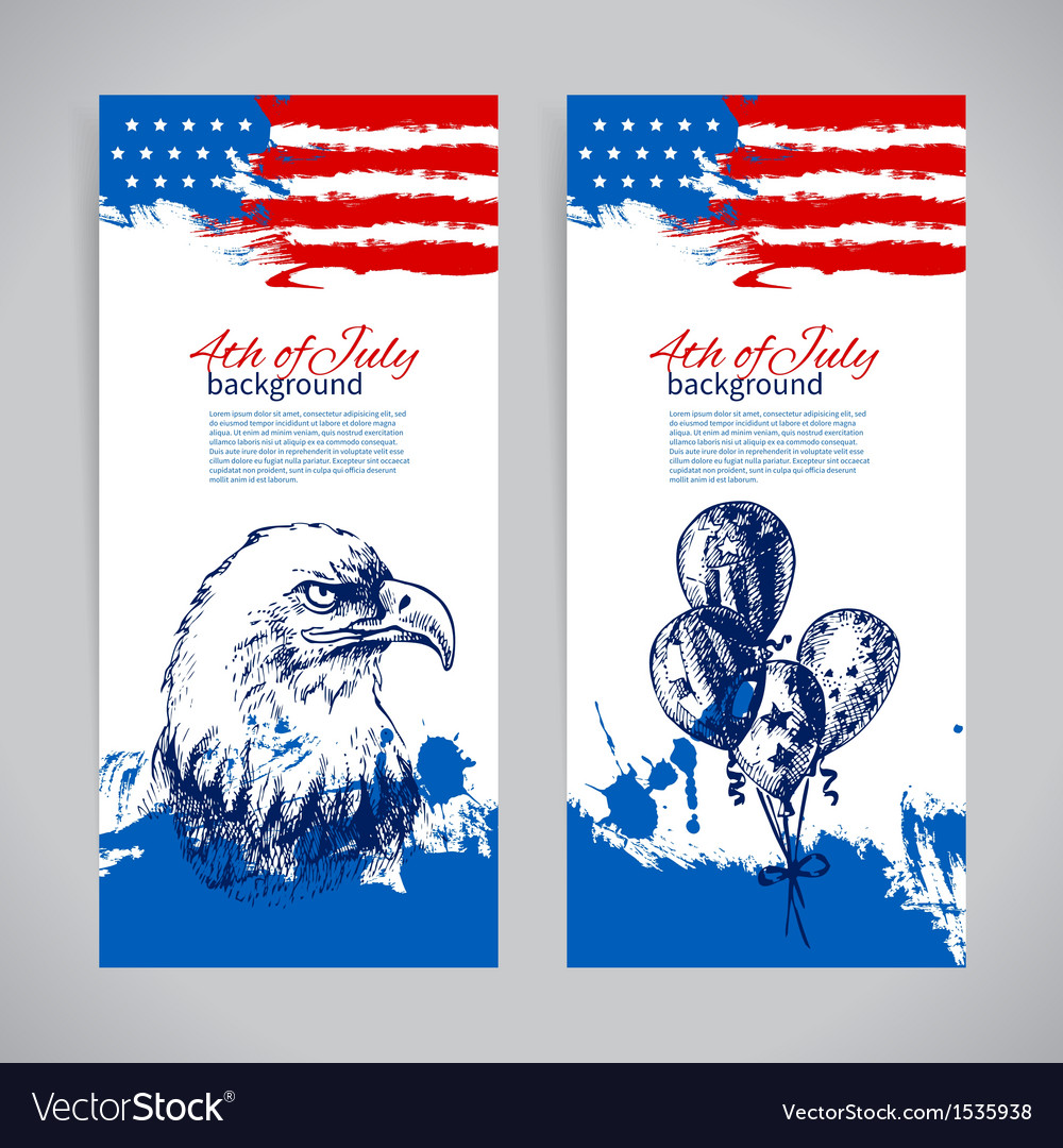 Banners 4th july backgrounds