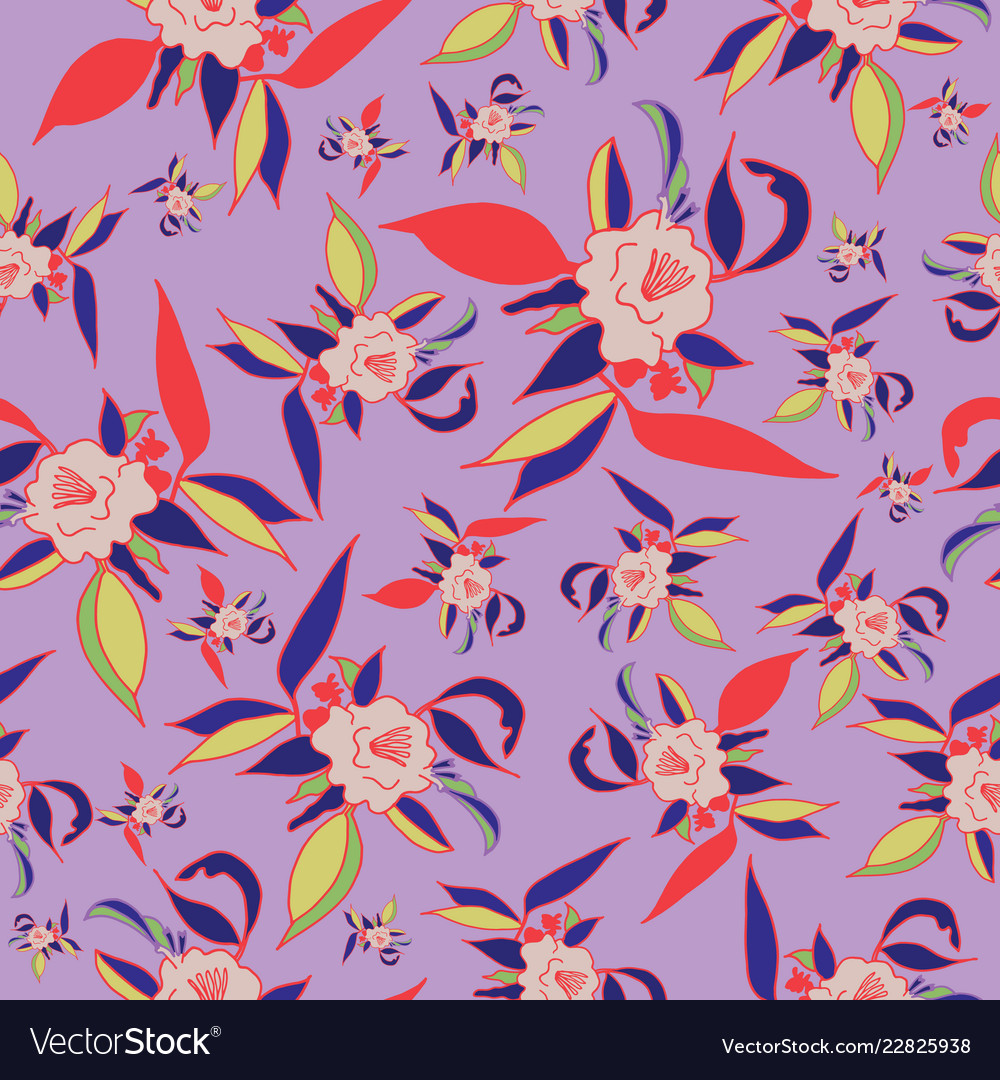 Colorful floral print seamless pattern