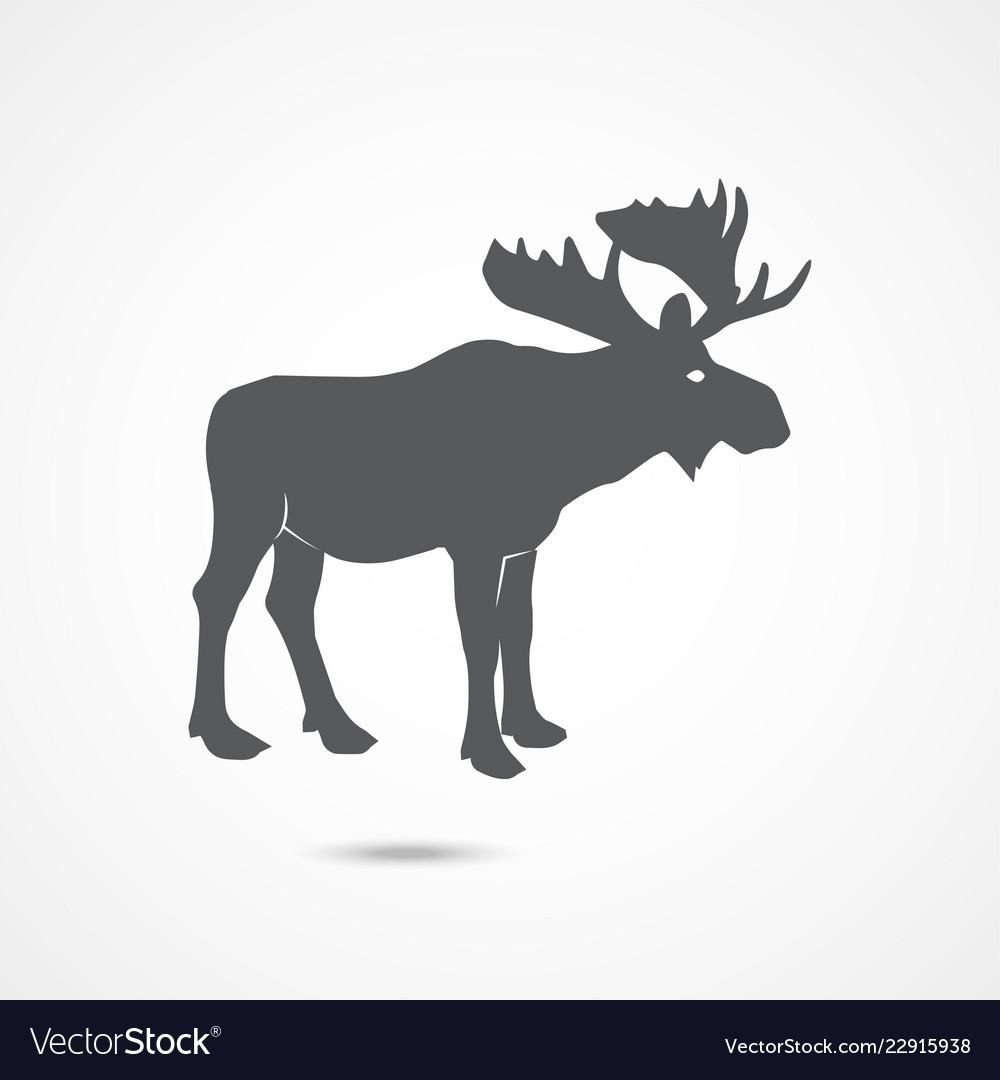 Elk flat icon