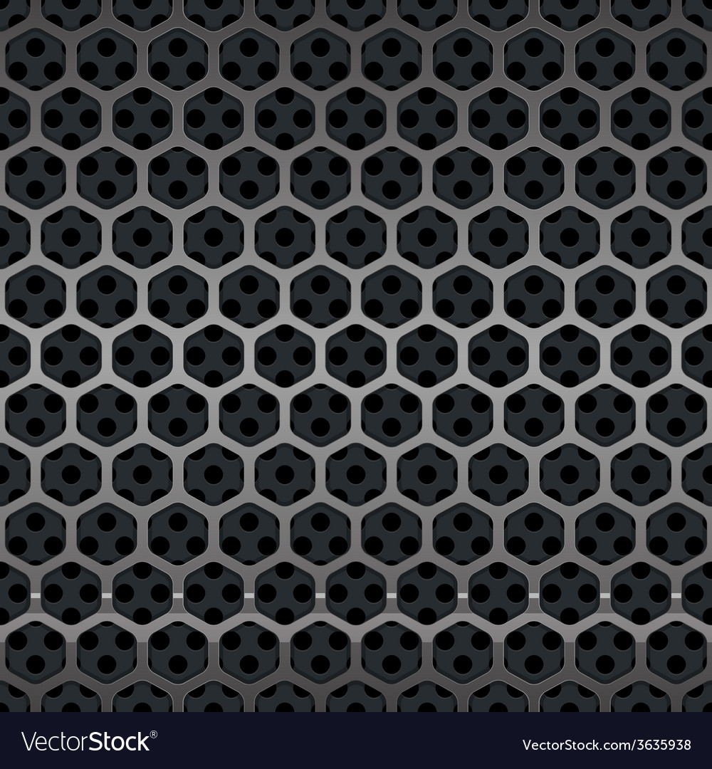 Hexagon Metal Grill Seamless Background