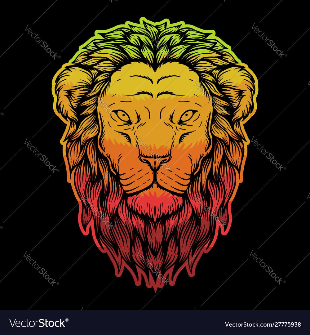 Lion head colorful