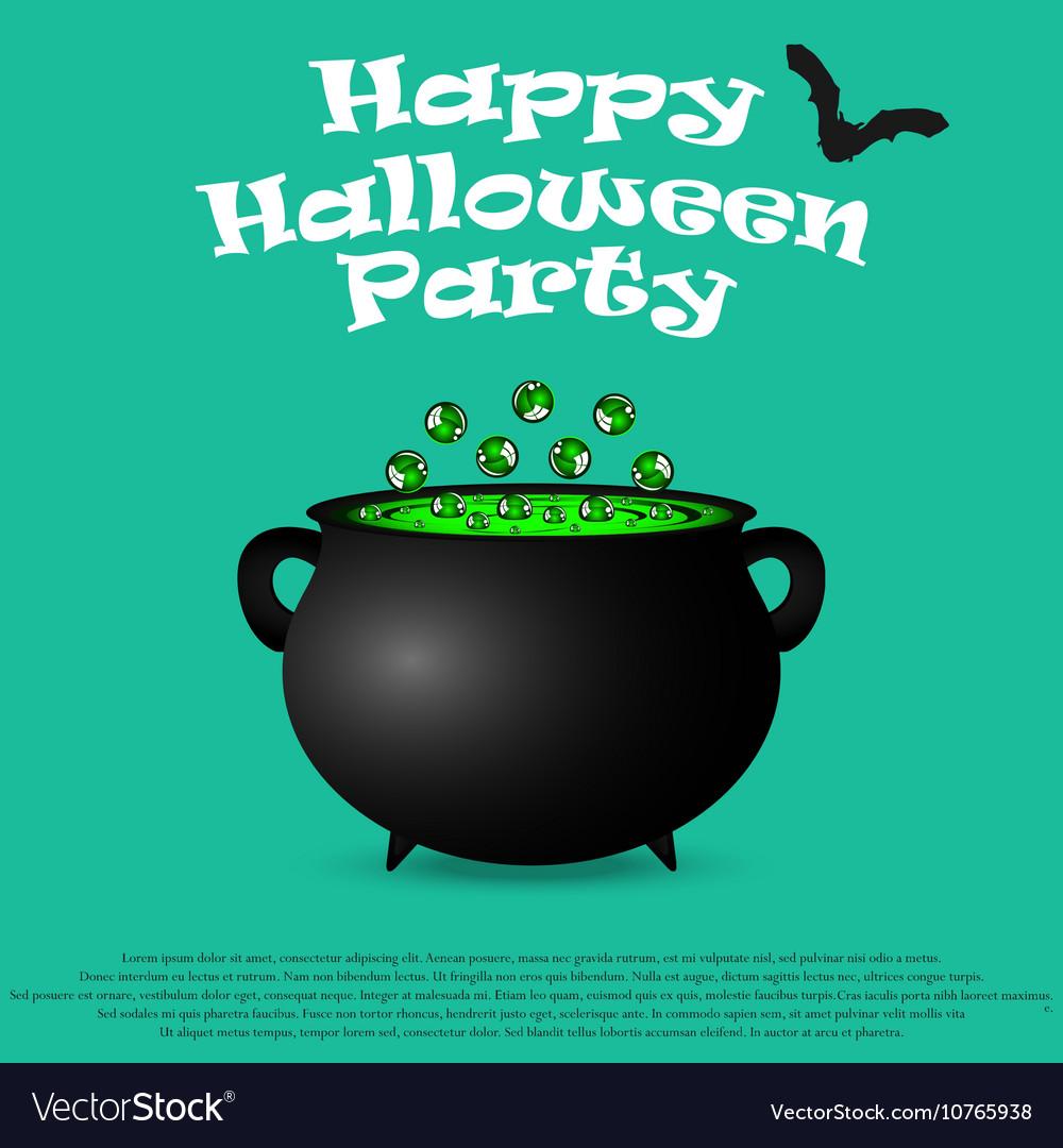 Postcard invitation to halloween party