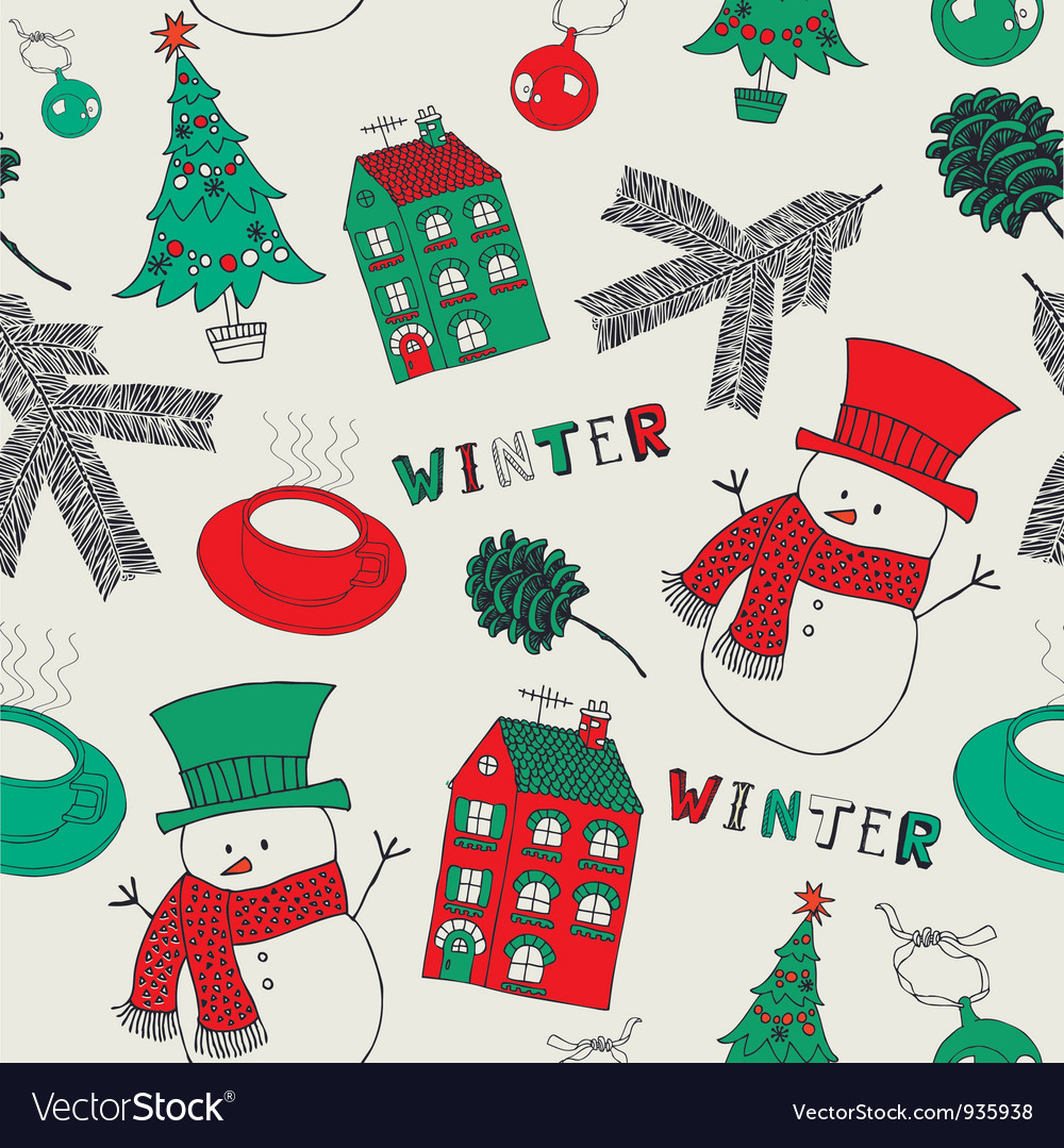 Retro Winter Christmas Pattern